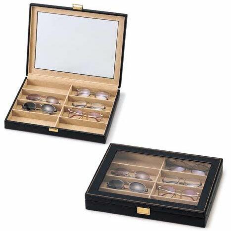 メガネ・サングラス用レザーコレクションケース《8本収納》::画像1