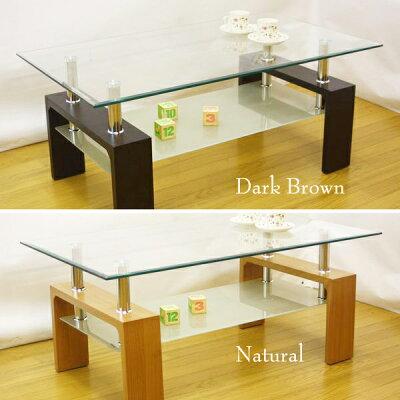 モダンガラスセンターテーブル120::中棚ミストガラス使用::画像1