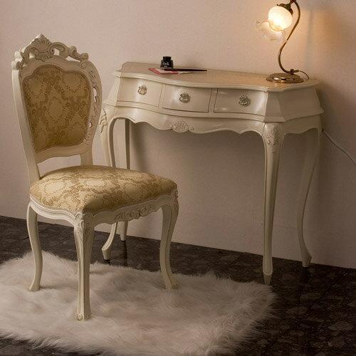 シンデレラ机&チェアー:::姫系インテリアロココ調ホワイトクラシックヨーロピアンロマンティック家具:画像2