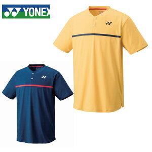 【期間限定 500円OFFクーポン発行中】ヨネックス(YONEX) テニス ゲームシャツ (フィットスタイル US1) 10326 半袖 Tシャツ ヘンリーネック ソフトイエロー(280) インディゴブルー(169) テニスウェア メンズ ユニセックス 数量限定 2020年モデル 選手着用モデル