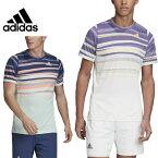 アディダス(adidas) テニス ゲームシャツ GKD48 半袖 Tシャツ 丸首 ホワイト×ショックイエロー(FK0802) ダッシュグリーン×テックインディゴ(FK0803) テニスウェア メンズ ユニセックス 全豪オープン限定 2020年モデル 選手着用モデル