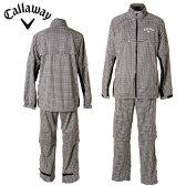 キャロウェイ Callaway 2WAY×2WAYセットアップレインウェア 241-988580 千鳥プリント 120 メンズゴルフレインスーツ 上下セット