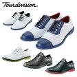ツアーディビジョン Tour divisionゴルフスパイク メンズクラシックスタイルゴルフシューズ スパイクレス 靴TD230102E01