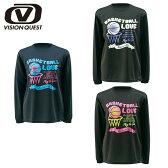 ビジョンクエスト VISION QUESTバスケットボールL長袖プリントTシャツ レディースVQ570414E04