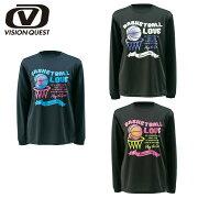 ビジョン クエスト バスケットボール プリント Tシャツ レディース