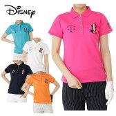 ディズニー Disneyゴルフ 半袖ポロシャツ レディースフランスミッキー半袖シャツ6286-1651