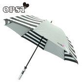 オプスト OPSTゴルフ 傘 レディース晴雨兼用ボーダー柄銀パラソルOP220510F01
