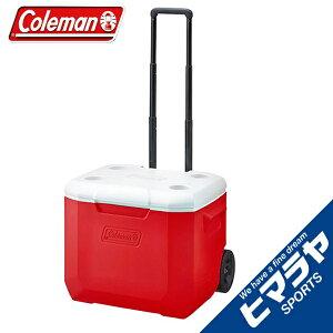 コールマン クーラーボックス 56L キャスター付 ホイールクーラー 60QTレッド ホワイト 2000027864 Coleman