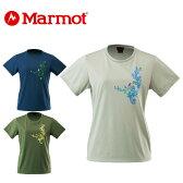 マーモット Marmotトレッキング ウェア レディースリーフバード 半袖 TシャツMOT-S2306WM