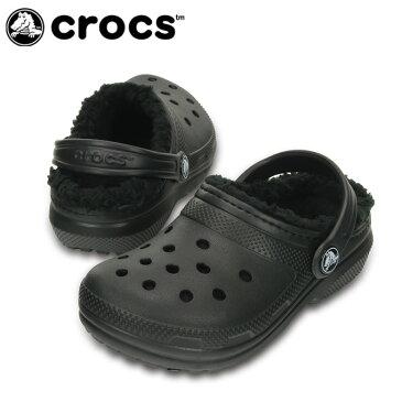 クロックス サンダル ジュニア classic lined clog クラシック ラインド クロッグ 203506 crocs