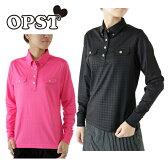 オプスト OPSTゴルフ ポロシャツ レディースエンボスチドリ長袖シャツOP220402F01