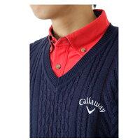 キャロウェイ(Callaway)ゴルフ(メンズ)ケーブルVネックセーター241-6260505