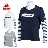 【クリアランス】 ルコック le coq sportifスポーツウェア Tシャツ カットソー レディースレイヤード長袖シャツ 16FWQB-115563