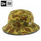 ニューエラ NEW ERAトレッキングアクセサリー ハット 帽子Bucket-01 グリーンハンターカモ11322406