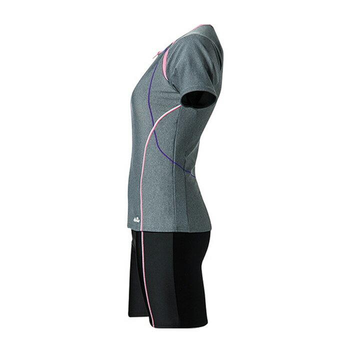 エレッセ(ellesse)フィットネス水着ワンピース(レディース)半袖美セパレーツES56106