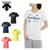 デサント DESCENTE Tシャツ 半袖 レディース サンスクリーン ハーフスリーブシャツ DAT-5724W