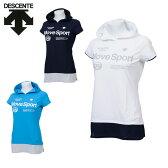 デサント DESCENTE Tシャツ 半袖 レディース フーデッドハーフスリーブシャツ DAT-5720W