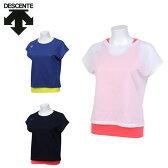 デサント DESCENTE Tシャツ 半袖 レディース レイヤードシャツセット DAT-5738W