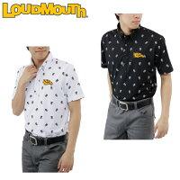 ラウドマウスLOUDMOUTHゴルフウェアポロシャツ半袖メンズドクロトビ柄プリント半袖BDNポロ767-602