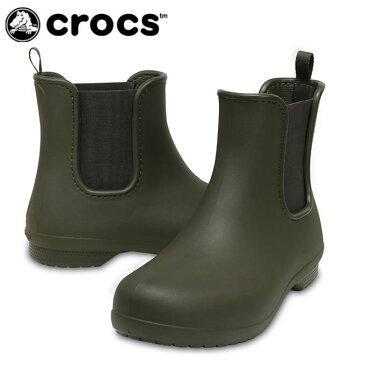 クロックス レインブーツ レディース フリーセイル チェルシー ブーツ ウィメン 204630-3Q6 crocs