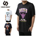 ビジョンクエスト VISION QUEST バスケットボールウェア 半袖シャツ メンズ プリントTシャツ VQ570413H03