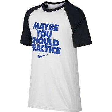 【5,000円以上でクーポン利用可能 11/6 20:00〜11/11 23:59】 ナイキ NIKE Tシャツ 半袖 ジュニア ドライレジェンド SHOULD PRACTICE Tシャツ 894281-100