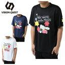 テニスウェア バドミントンウェア Tシャツ 半袖 メンズ レディース デザインTシャツ VQ530313H02 ビジョンクエスト VISION QUEST