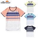 エレッセ テニスウェア Tシャツ 半袖 レディース ショートスリーブプラクティスクルー EW08111 ellesse バドミントンウェア