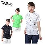 ディズニー Disney ゴルフウェア ポロシャツ 半袖 レディース 飛び柄 8286-9663