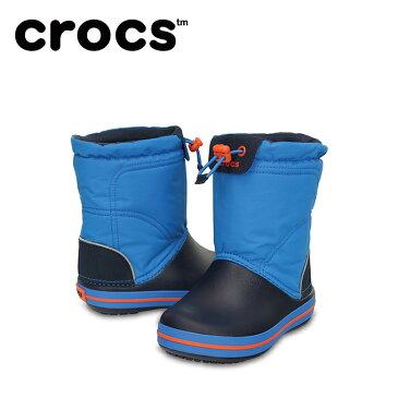 【7,000円以上でクーポン利用可能 11/18 23:59まで】 クロックス スノーブーツ 冬靴 ジュニア crocband lodgepoint boot kids クロックバンド ロッジポイント ブーツ キッズ 203509-4A5 crocs
