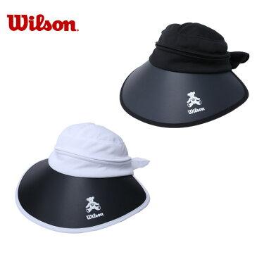 ウイルソン Wilson ゴルフ サンバイザー レディース ベア3WAY ツバ広キャップ WBC1836L