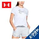 アンダーアーマー Tシャツ 半袖 レディース グラフィックビッグロゴクラシッククルー 1330348-100 UNDER ARMOUR