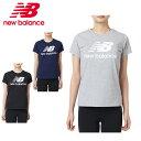 ニューバランス Tシャツ 半袖 レディース エッセンシャルスタックドロゴTシャツ AWT91546 new balance