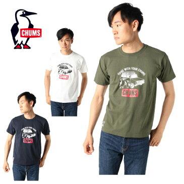 チャムス CHUMS Tシャツ 半袖 メンズ ステーションワゴン SS T CH01-1628