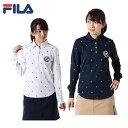 フィラ FILA ゴルフウェア ポロシャツ 長袖 レディース 刺繍飛柄 799-510