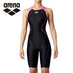 アリーナ FINA承認 競泳水着 レディース AQUA RACING アクアレーシング セイフリーバックスパッツ 着やストラップ ARN-0050W-BKPK arena