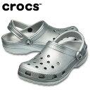 クロックス クロックサンダル メンズ レディース クラシック メタル クロッグ 205831-050 crocsの商品画像