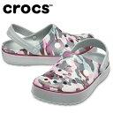 クロックス クロックサンダル メンズ レディース クロックバンド プリンテッド クロッグ Crocband Printed Clog 205834-0GF crocsの商品画像