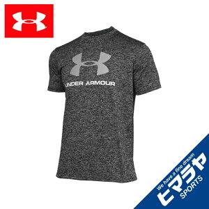 アンダーアーマー Tシャツ 半袖 メンズ UAテック ビッグロゴ ショートスリーブ 1359132 002 UNDER ARMOUR