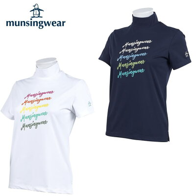 マンシング Munsingwear ゴルフウェア 半袖シャツ レディース マルチロゴプリントハイネック半袖シャツ MGWPJA28