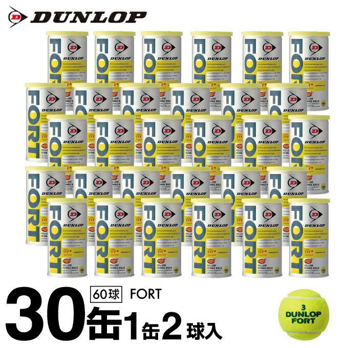 ダンロップ(DUNLOP) 硬式テニスボール フォート(FORT) 2球×30缶セット