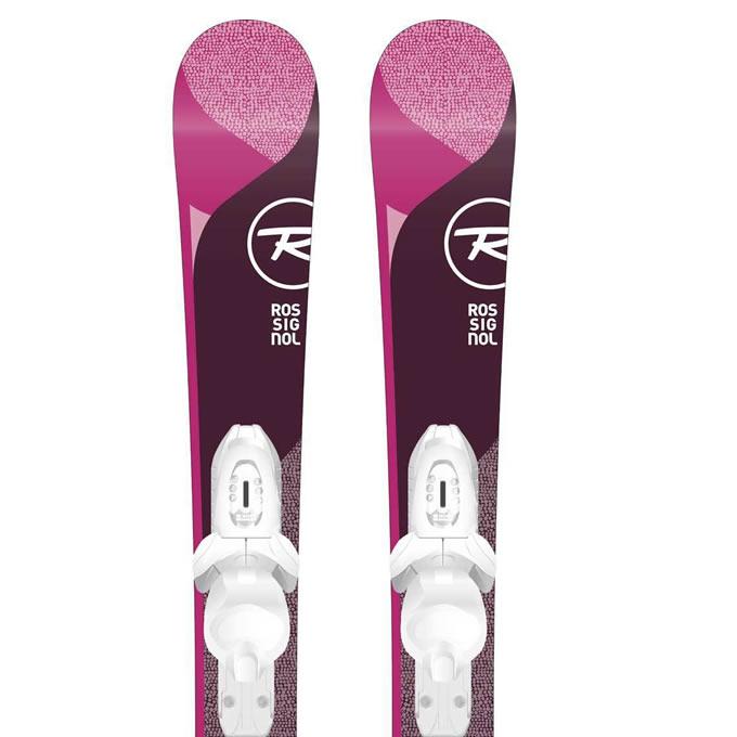 ロシニョール ROSSIGNOL ジュニア スキー板セット 金具付 TEMPTATION PRO+KID-X テンプテーション+キッド 子供用スキー 【取付無料】