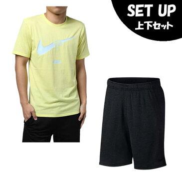 ナイキ 半袖Tシャツ ハーフパンツ セット メンズ DRI-FIT ブレンド JDQ スウッシュ Tシャツ + DRI-FIT ベニア ショート AH6498-735 + AA1556-010 NIKE