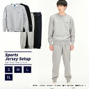 チャンピオン Champion スポーツウェア上下セット メンズ クルーネックスウェットシャツ + スウェットロングパンツ C3-LS050 + C3-LS253・・・