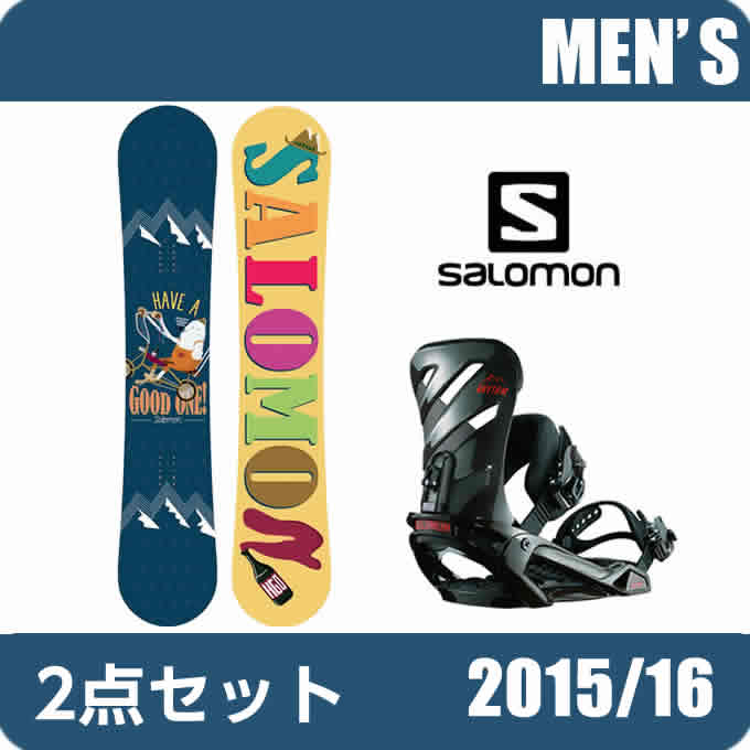 サロモン salomon スノーボード ビンディング2点セット レディース HGO ボード :RHYTHM ビンディング HGO 【15-16 2016モデル】 626726seta