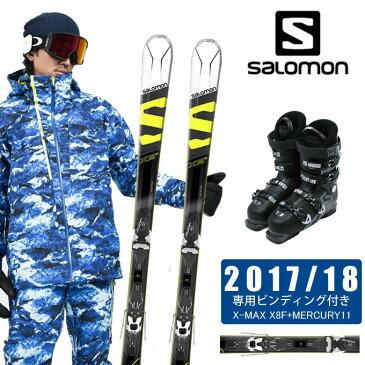 【クーポン利用で4000円引 1/30 0:00〜2/5 23:59】 サロモン salomon スキー板 3点セット メンズ X-MAX X8F+MERCURY11 + X ACCESS 70 WIDE BB スキー板+ビンディング+ブーツ