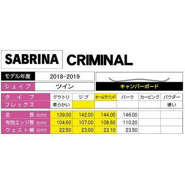 サブリナ SABRINA スノーボード 2点セット レディース CRIMINAL + MILAN ボード+ビンディング