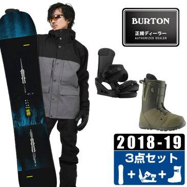 バートン BURTON スノーボード 3点セット メンズ INSTIGATOR + Custom Re:Flex + MOTO ASIAN FIT ボード+ビンディング+ブーツ