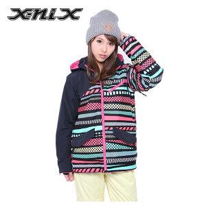 エックスニクス(x-nix) Geometric Mixture Jacket(MULTI) XN482OT52 スノーボード ジャケット(レディース) 2015年【WWCL】