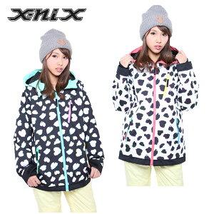 エックスニクス(x-nix) Heart Dalmatian Jacket XN482OT61 スノーボード ジャケット(レディース) 2015年【WWCL】
